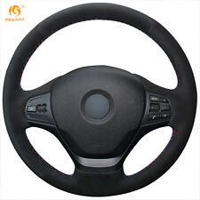 Non-Slip Suede Steering Wheel Cover Wrap for BMW F30 316i 320i 328i
