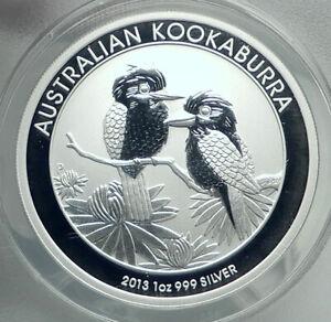 2013 AUSTRALIA Kookaburra Birds Silver 1oz Australian ANACS MS70 Coin i79226