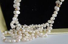 Collar de oro y perlas de manglar