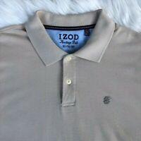 IZOD Heritage Polo Short Sleeve Shirt   Men's Size XL   Beige