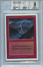 MTG Unlimited Lightning Bolt BGS 9.0 Mint  Magic Card Amricons 6013