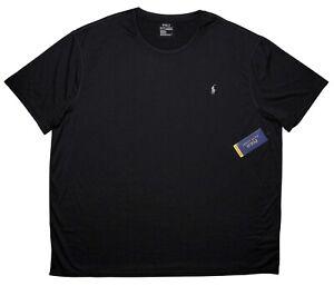 POLO RALPH LAUREN Short Sleeve Performance T-Shirt Black 3XB 3XL Big ~ New
