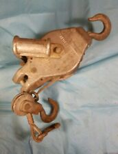 Vintage Beebe Brothers C-400 H Ratcheting Cable Hoist Rigging Winch - For Parts!
