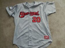 2015 Brevard County Manatees Game Used Road Jersey #20 Hiram Burgos Brewers