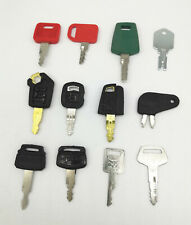 12 Key For JD Komatsu Volvo Hitachi BOBCAT KOBELCO Caterpillar Excavator