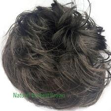 Hair Scrunchie Brown Imitation Messy Hairpiece 3 Shades of Brown Elasticated Dark Brown