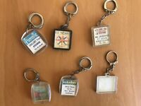 Lot of 6 *RARE* Vintage Advertising Keychains LENTICULAR FRANCE Visiomatic