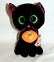 """Ty Beanie Boos Potion - Black with Purple Spots Cat 9"""""""