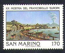 San MARINO 1980 EUROPA/stampex/NAPOLI/PORTO/VESUVIO VULCANO/1 V (n37011)
