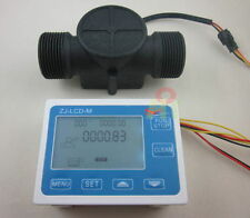 "G1-1/2"" 1.25 Flow Rate Water Sensor Meter+LCD Digital Display Control Total flow"