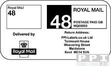 1000 ROYAL MAIL 48 (STANDARD) PPI Labels & Return Address STD-48-04 (21s) Sheets