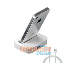 Base de carga soporte DOCK + cable para iPhone 6 4.7  5 5C 5G CARGADOR
