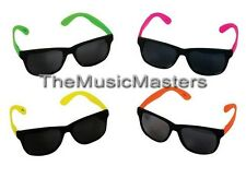 (12) Neon Sunglasses Assorted Colors Retro Pool Party Favor Costume Accessory