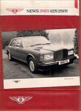 Huit BENTLEY MULSANNE TURBO 1986 année modèle marché britannique communiqué de presse