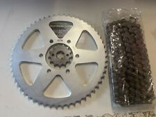 SUZUKI TF TS 100 125 AG BIKE 13 FRONT 55 REAR CHAIN AND SPROCKET SET