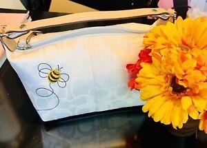 Coach M053-7440 Ivory White Bumble Bee Appliqué Mini Hobo. New W/O Tags