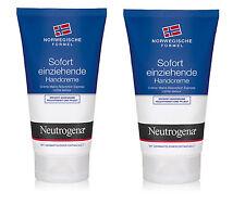 Neutrogena Sofort einziehende Handcreme Feuchtigkeitsspendend 2x75ml (135)