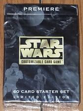 Decipher Star Wars CCG Premiere Starter Deck Limited Black Bordered New Sealed