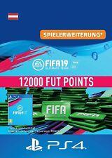 FIFA 19 Ultimate Team / 12000 FUT Points / PS4 / Österreich 🇦🇹 AT / !NICHT DE!