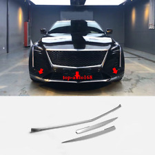 Stainless Chrome Front Bumper Bright Strip Cover Trim 3pcs For Cadillac CT6 2019