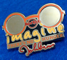 JOHN LENNON 'IMAGINE' THERE'S NO HUNGER WHY WORLD HUNGER 2009 Hard Rock Cafe PIN