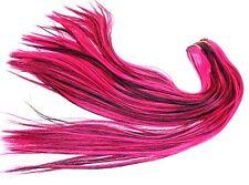 Capelli proroghe Tresse da una fibra termica capelli finti liscia 50cm tressen Nero Rosa