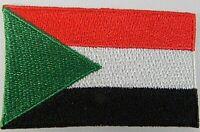 Sudan Aufnäher gestickt,Flagge Fahne,Patch,Aufbügler,6,5cm,neu