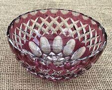 Vintage Cranberry Crystal Bowl