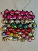 Vintage Lot Over 50 1950s Shiny Brite Christmas Ornaments Mercury Stenciled Rare
