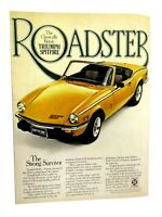 1978 Triumph Spitfire Roadster Strong Survivor Original Print Ad-8.5 x 11""