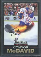 Connor McDavid 2019-20 Credentials Pro Visions #1 SSP Oilers NM 1:120 packs