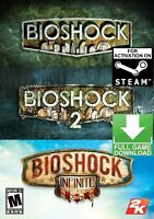 BioShock Triple Pack Colection PC  STEAM GIFT (NO CD/DVD) WW No Zone Restriction