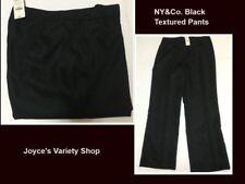 NY&Co. Textured Black Dress Pants SZ 14