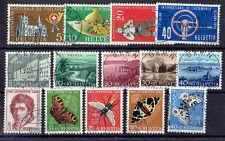 Schweiz o  MiNr 607 - 622 Jahrgang 1955