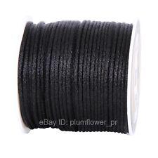 2mm 50yds Nylon Macrame Shamballa Braided Rattail Cord Kumihimo String Thread