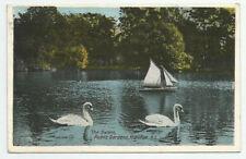 The Swans Public Gardens Halifax N.S. Postcard 1924 Nova Scotia Canada