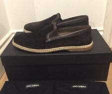 Dolce and Gabbana Mondello Slip on Espadrille Suede Shoes Loafers Size UK 7/41