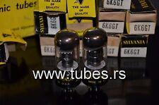 Platinum matched pair 6K6Gt Sylvania (Vt-152) Nos in original boxes