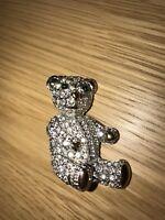 BUTLER AND WILSON TEDDY BEAR BROOCH CRYSTAL VINTAGE SPARKLE ADORABLE / QVC