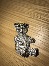 BUTLER AND WILSON TEDDY BEAR BROOCH CRYSTAL VINTAGE SPARKLE ADORABLE / QVC