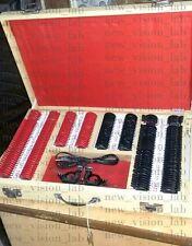 LENTE di prova Set 225PCS + telaio di prova, Rosso e Nero Colore, migliore qualità