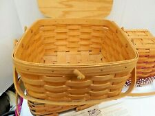 Longaberger 1997 signed vintage cake pie Picnic Basket new collectible mint!
