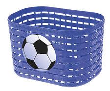 Handlebar Basket Plastic Bike Bag in Blue with fußball-logo NEW 431549