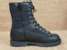 Bates Tactical Sport Boots Size 9.5 Black Leather Zipper Side Lace Up