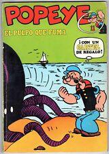 POPEYE #11 1971 El Pulpo Que Fuma SPANISH FOREIGN COMIC BOOK Sagendorf Reprint