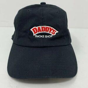 Daddy's Smoke Shop Hat Cap Adjustable Strapback Black OSFA