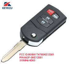 Flip Remote Key Fob for Mazda 3 6 MX-5 Miata 2005-2010 (BGBX1T478SKE125-01)