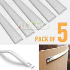 5pcs 1M Bendable Extrusion Alloy Aluminum Channel Bars for LED Strip Light Hotel