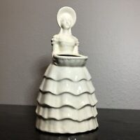 Vintage Southern Belle White Porcelain Planter / Kitchen Utensil Holder