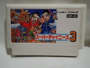 Super Chinese 3 K (Nintendo Famicom Culture Brain) Japanese Cart tested